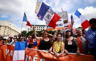 A protest against COVID-19 health pass in France