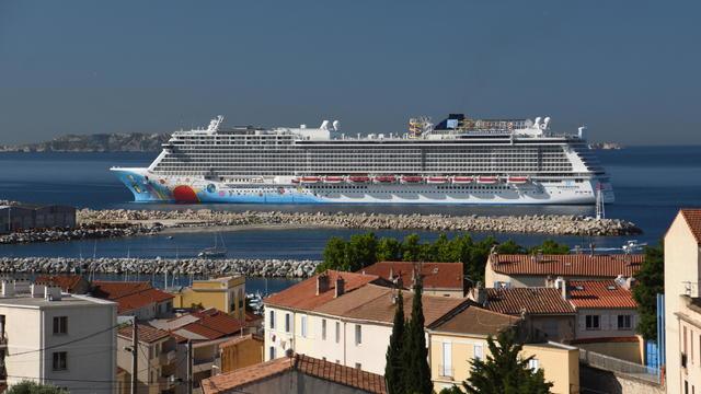An overview of the Norwegian Breakaway cruise ship in