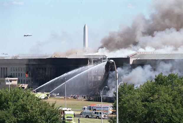 Hijacked Jet Crashes into Pentagon