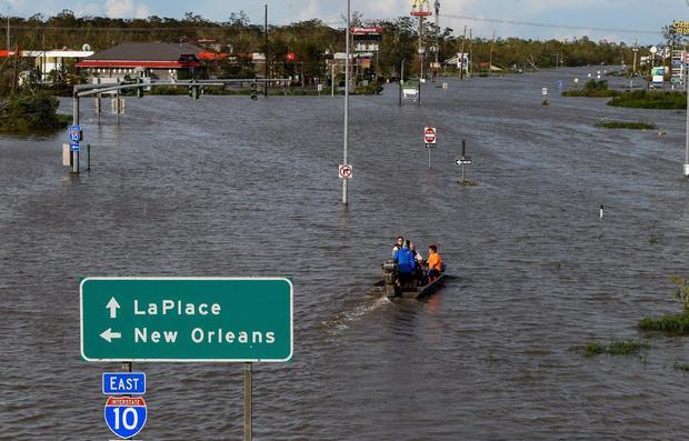 Flooding from Hurricane Ida in Louisiana
