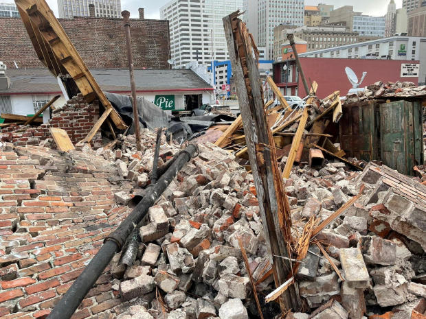 New Orleans' historic Karnofsky Shop suffered severe damage after Hurricane Ida pummeled the city with strong winds August 30, 2021.