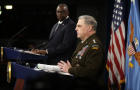 U.S. Secretary of Defense Lloyd Austin and Chairman of the Joint Chiefs of Staff Army General Mark Milley
