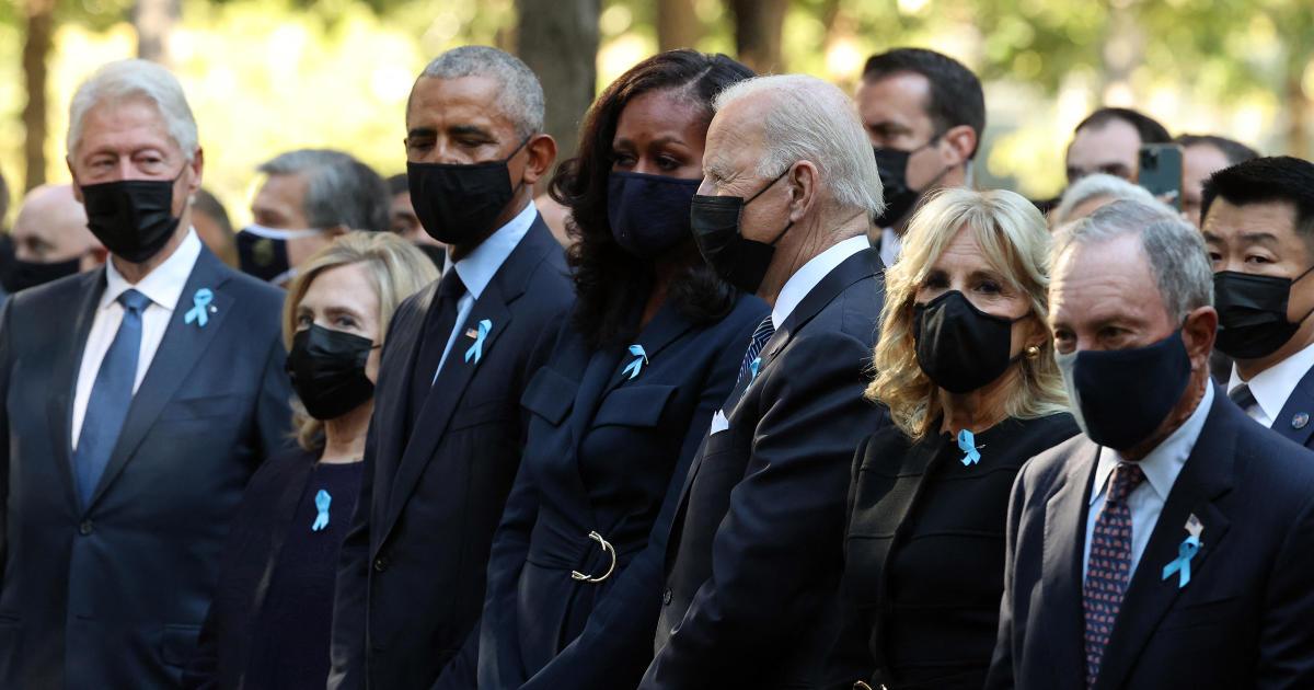 Biden, Obama dan Clinton menandai 9/11 di New York dengan kilau persatuan thumbnail