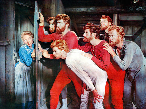 Jane Powell And Jeff Richards In 'Seven Brides For Seven Brothers'