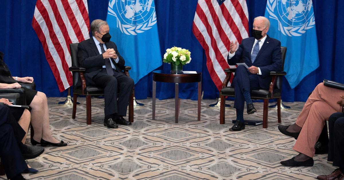 Biden meets with U.N. Secretary-General António Guterres