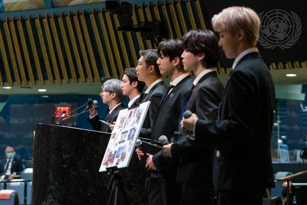 BTS Performs at U.N.