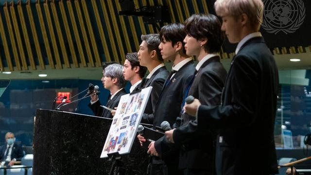 BTS Performs at Sustainable Development Goals Moment