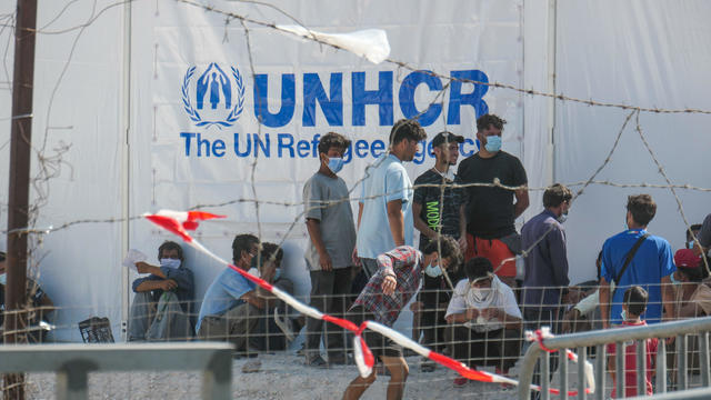 New Temporary Refugee Camp In Lesbos Island