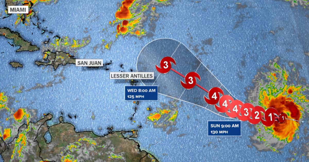 """Hurricane Sam strengthens into """"major"""" Category 3 storm"""