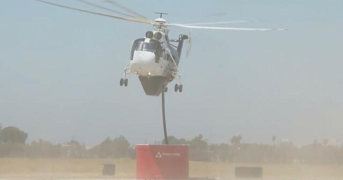 California firefighters use high-tech helicopter to fight massive wildfires