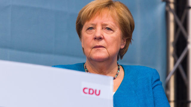 Merkel and Laschet Campaign in Aachen on Eve of Federal Elections