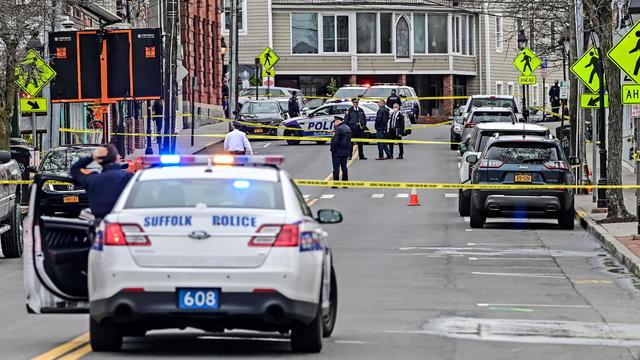 Long Island police respond to shooting on Main Street
