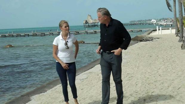 Jasmine Hartin and Peter Van Sant in Belize