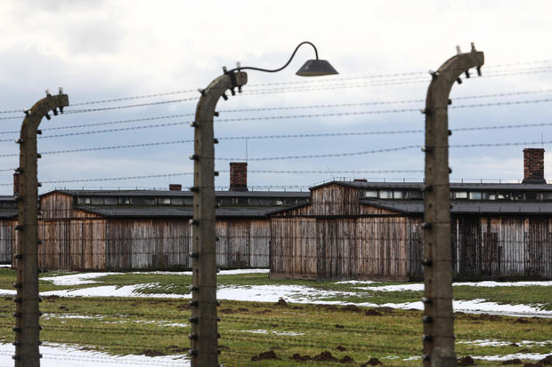 Antisemitic graffiti found on Auschwitz Nazi death camp barracks
