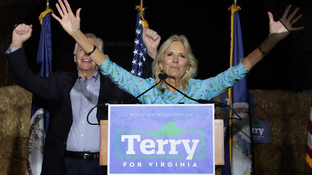 Jill Biden Joins Terry McAuliffe As He Campaigns For Virginia Governor