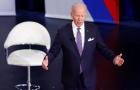 U.S. President Joe Biden participates in a town hall with CNN's Anderson Cooper in Baltimore