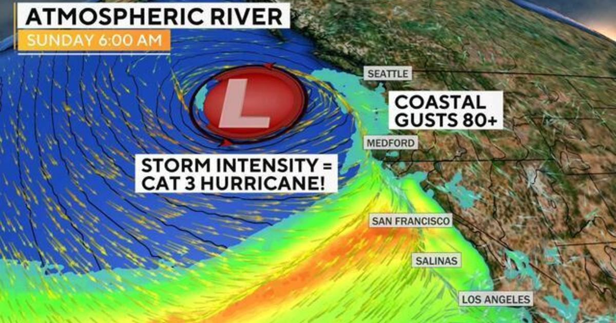 """Forecasting the impact of California's """"bomb cyclone"""""""