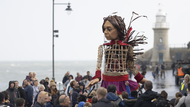 'Little Amal', Migrant Puppet Traversing Europe, Arrives In England