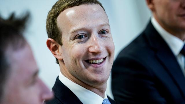 Smiling Mark Zuckerberg