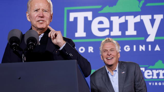 President Biden campaigns for Terry McAuliffe in Virginia